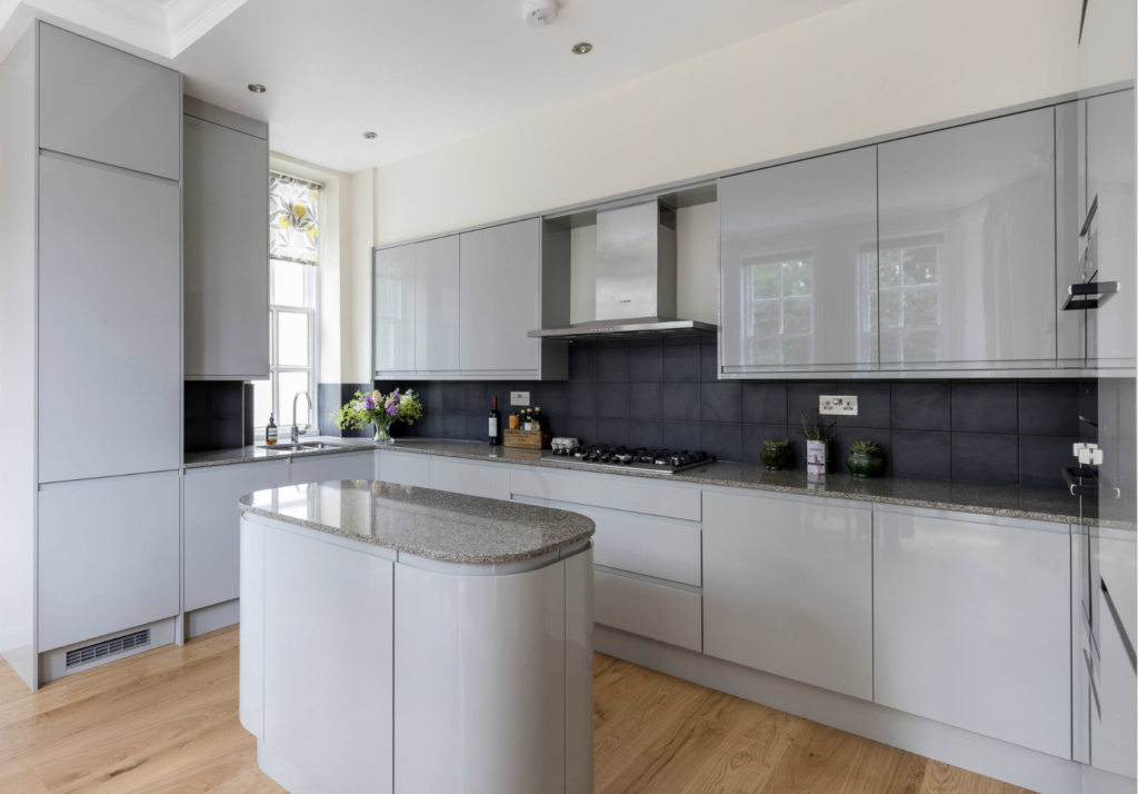 Contemporary kitchen designed and build by Holland Street Kitchens, example of new kitchen trends for 2020.