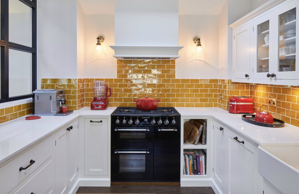 Modern kitchen with clever storage designed and build by Holland Street Kitchens, example of new kitchen trends for 2020.